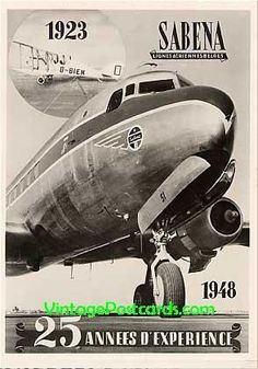 Sabena Airlines Belgium went up in the sky ... Advert RP