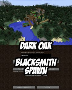 In this Minecraft taiga seed the spawn point is in a large, dense taiga biome on the edge of a dark oak village with a blacksmith. Minecraft Pe Seeds, All Minecraft, Minecraft Plans, Minecraft Construction, Minecraft Tutorial, Minecraft Blueprints, Minecraft Projects, Minecraft Party, Minecraft Houses