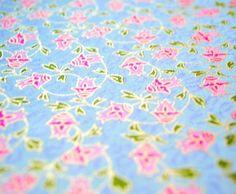 Handmade origami paper  Pink bindweed