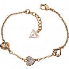 Guess Triple Heart Bracelet UBB71332 Heart Bracelet, Bangle Bracelets, Bangles, Gold Plated Bracelets, Rose Gold Plates, Red Roses, Plating, Jewels, Diamond