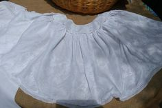 Antique 1930's French Handmade Christening Tulle Baby Dress and Cape. White Cotton tulle and silk flower embroidered.…