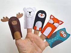 Hračky - Zvieratká 3. - prstové bábky - 9097219_ Gloves, Handmade, Mittens, Hand Made, Handarbeit