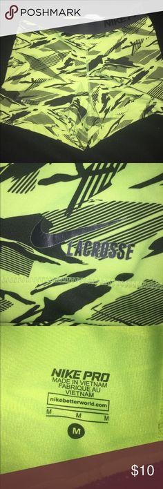 Nike Pro Shorts Bright yellow spandex shorts Nike Shorts