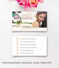 Photographer Business Cards Template