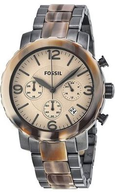 Fossil Women's JR1383 Natalie Stainless Steel Two-Tone Watch