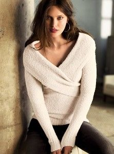 Bouclé shawl collar v-neck sweater
