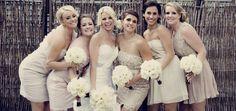 neutral bridesmaids dresses  www.amsisphoto.com