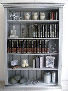 Grey Distressed Bookshelf