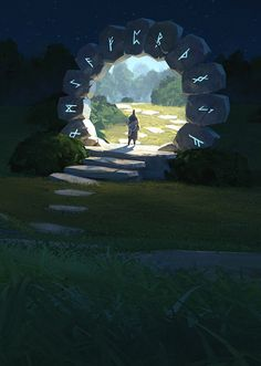 Atmospheric Fantasy Artworks — Time portal by Thomas Stoop