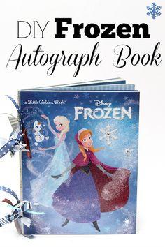DIY Disney Frozen Autograph Book | Disney's Anna & Elsa Craft