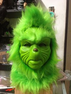 Coolest homemade grinch halloween costume idea pinterest grinch grinch mask alredy finish made iby disfraces monalisa solutioingenieria Image collections