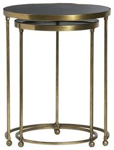 Set of 2 Moreno Nesting Tables - contemporary - side tables and accent tables - by Crate&Barrel