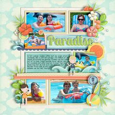 Beachy Keen by Eva Kipler and Flergs template from set 72 by Cindy Schneider font: Fangirl by Darcy Baldwin