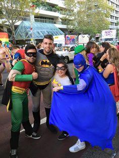 Batman and Robin! http://www.costumecollection.com.au/superhero-and-villain-costumes/robin-costumes.html http://www.costumecollection.com.au/superhero-and-villain-costumes/batman-costumes.html