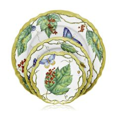 """Green Leaf dinner plate by Anna Weatherly, $330, Michael C. Fina. """"Anna Weatherly is great. That's collector's item of tomorrow."""" --Kelley Proxmire"""