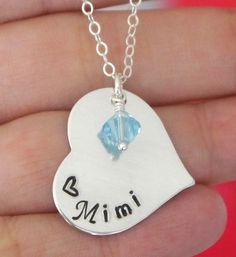 Mimi Necklace Mimi Jewelry Personalized Mimi by MadiesCharms, $29.95