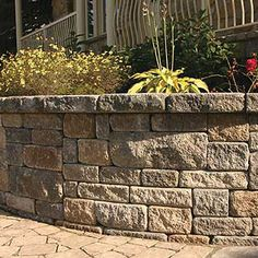 EXCELLENT Retaining wall choice in material.. A good choice for a man made product, close to nature. Recommended by Rick. Retaining wall