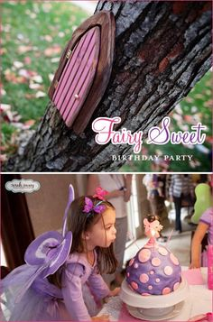 """Today's Real Party feature looks like every little girl's dream! This adorable """"Fairy Sweet"""" theme was created by Erin Volante for her (equally adorable!)"""