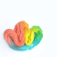 Rainbow spring Nylon / wool Hand dyed Yarn colored by LaFiabaRussa, €18.00