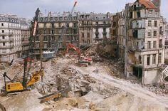 Les Halles- PARIS DISPARU - Démolition des Halles en 1971.