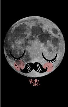 of course the man in the moon has a mustache. the eyelashes and those rosy cheeks kill me.