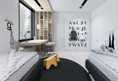 Black And White House With Moments Of Kid-Friendly Quirky Decor