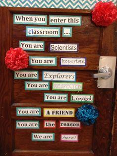 Classroom door idea