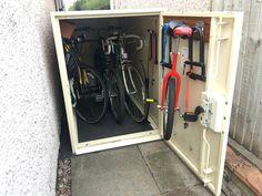 Keith's metal bike locker  #shed #metalshed #asgard #bikeshed #bike
