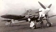 Hawker Typhoon in early ID markings Air Force Aircraft, Ww2 Aircraft, Fighter Aircraft, Military Aircraft, Fighter Jets, Hawker Tempest, Hawker Typhoon, Airplane Art, Airplane Crafts