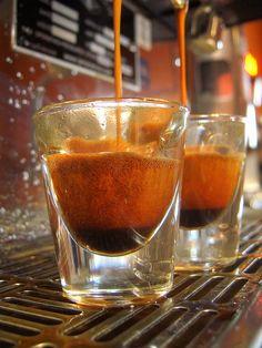 Black Cat espresso  A very gassy looking cremor of a ristretto cremor