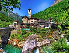 The Romantic Natural Beauty of the Picturesque Village of Lavertezzo, Ticino, Switzerland