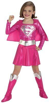 Girls #Pink #Supergirl #Costume