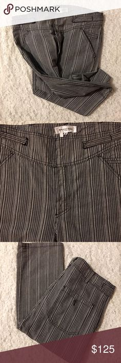 ☀️BALENCIAGA JEANS SIZE 38 'TALL'☀️ Pinstriped, Balenciaga Paris Jeans - Size 38 EURO or 6 US Inseam is 35 inches. So, these jeans are for someone who is tall or they'll need to be taken in. These jeans are flawless and fabulous. *The tag is loosening. I bought them in a boutique in San Francisco bc I intended to have them altered and never did. Trying to get back some of what I spent & will consider reasonable offers. Thank you for looking.😊 Balenciaga Jeans
