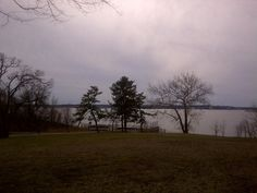 View from front of the Conference House to Perth Amboy