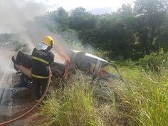 Motorista morre carbonizado na rodovia MG-188 em Unaí MG