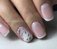 The latest cat nail art is no longer limited to just painting on nails, it directly turns nails into a cat's head. Cat Nail Art, Animal Nail Art, Cat Nails, Cat Nail Designs, Pedicure Designs, French Pedicure, French Nail Art, Beauty Nails, Pretty Nails