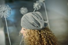 Gray or brown slouchy 'baby alpaca' hat / woman / adult / alpaca wool slouchy beanie / over-sized knit hat