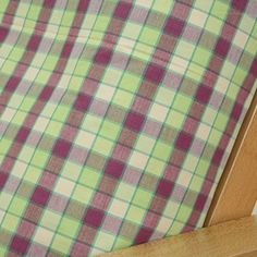 Summer Plaid futon cover features cheerful plaid pattern in summery color scheme of greens, creme and fuchsia.