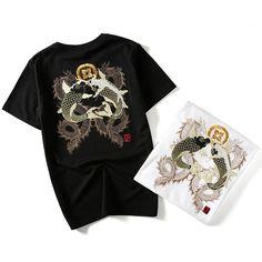 37a2ec528b1 Double Dragon   Koi Sukajan T-shirt – Koisea Koi Carp