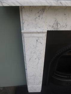 Charles Graham Architectural Antiques and Fireplaces - Original Antique Carrara Marble Fire Surround - Ref MS18