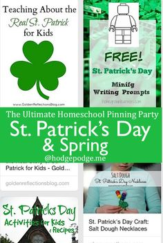 St. Patrick's Day & Spring at The Ultimate Homeschool Pinning Party