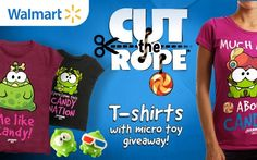 Travel back in time with Om Nom with exclusive new kids' t-shirts at Walmart Canada! Bonus micro toy included. http://www.walmart.ca/canada-estore/catalog/productlistingpagecontainer.jsp?isSkuIdBasedListing=true=true=1255075755268=10017=true=POV_Mediative_Apparel_3105_CutTheRope_03152013=en #cuttherope #omnom #cute #green #little #monster #love #candy #sweets #play #mobile #phone #fun #game #happy #nice #merchandise #popular