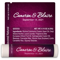 Check out this customizable product from www.totallypromotional.com/wedding-lip-balm-template-2274.html