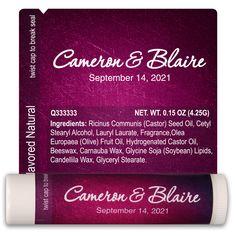TLB2274 - Weddding Lip Balm Template 2274 #wedding #weddingfavor