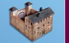 Marklin start up  Prison with 2 watchtowers (H0)