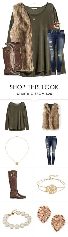"""❤️"" by sassysouthernprep99 ❤ liked on Polyvore featuring H&M, Mavi, Tory Burch, Kate Spade, Kendra Scott and Too Faced Cosmetics"