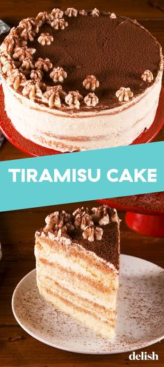 This Ultra-Light Tiramisu Cake Is For The Coffee LoversDelishYou can find Tiramisu cake and more on our website.This Ultra-Light Tiramisu Cake Is For The Coffee LoversDelish Köstliche Desserts, Delicious Desserts, Dessert Recipes, Easy Cake Recipes, Sweet Recipes, Mini Cakes, Cupcake Cakes, American Cake, Tiramisu Cake