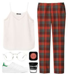 """""""lazy"""" by soym ❤ liked on Polyvore featuring adidas Originals, MANGO, Uniqlo, Linda Farrow and Forever 21"""