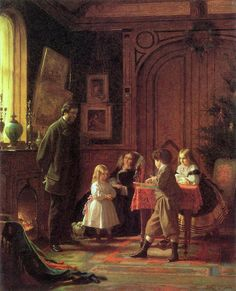 Eastman Johnson «Christmas Time (also known as The Blodgett Family)» 1864