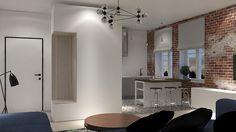 Mała kuchnia w kawalerce - Architektura, wnętrza, technologia, design - HomeSquare